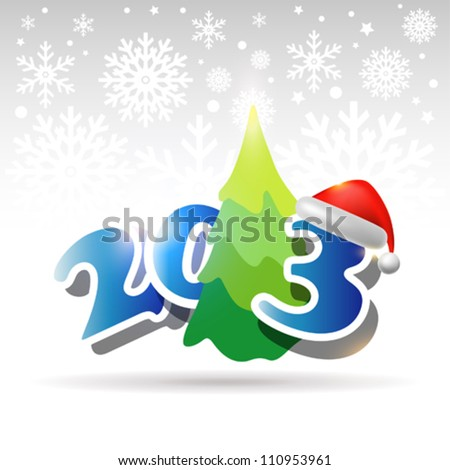 Happy New 2013 Year  background or card. - stock vector