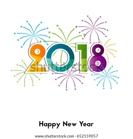Happy new year 2018 background element stock vector 652159057 happy new year 2018 background or element of a holidays card colorful fireworks voltagebd Gallery