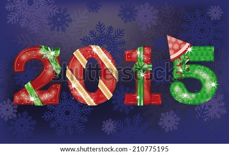 Happy New 2015 Year background  vector illustration - stock vector