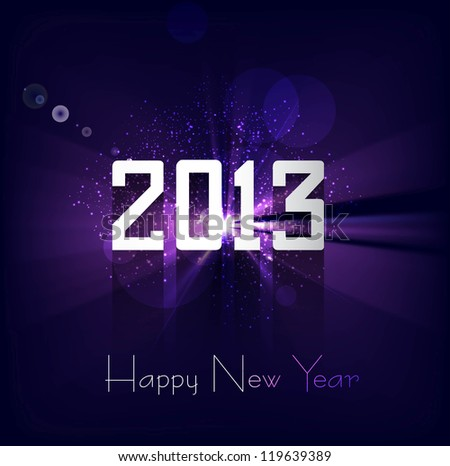 Happy new year 2013 bright colorful celebration background vector - stock vector
