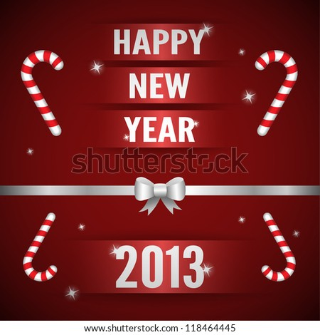 Happy New Year Card - stock vector