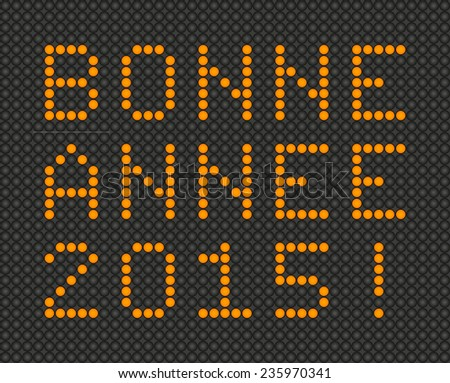 Happy New Year 2015 card in French - Bonne Annee 2015