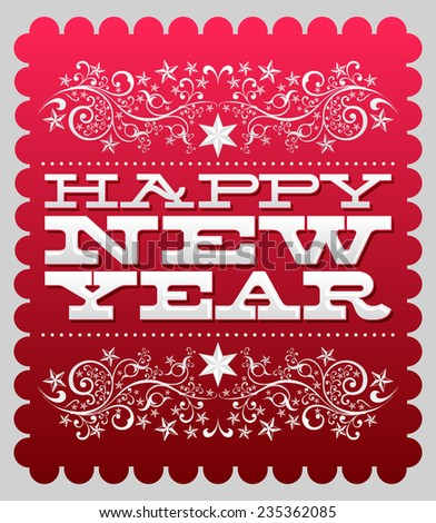 Happy new year - card - poster template