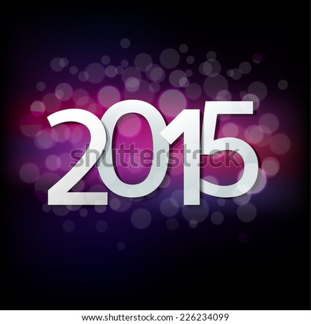 Happy New Year Card With Gradient Mesh, Vector Illustration