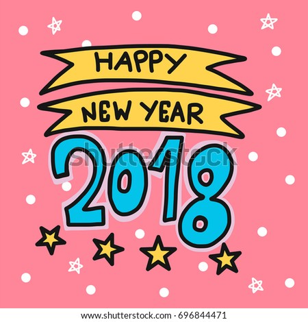 30 happy new year 2018 cute cartoon pictures for kids happy new