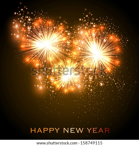 Happy New Year celebration background - stock vector
