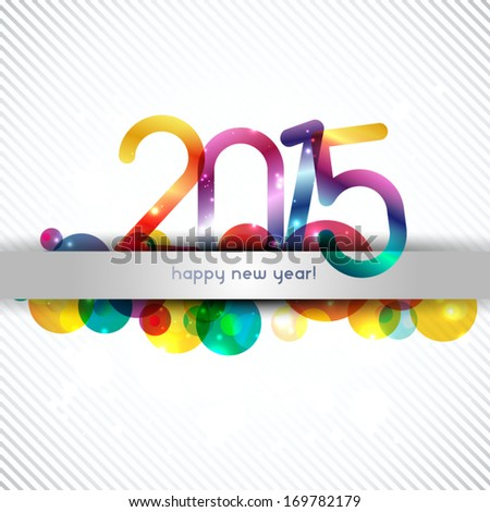 happy new year 2015 celebration background, banner design - stock vector