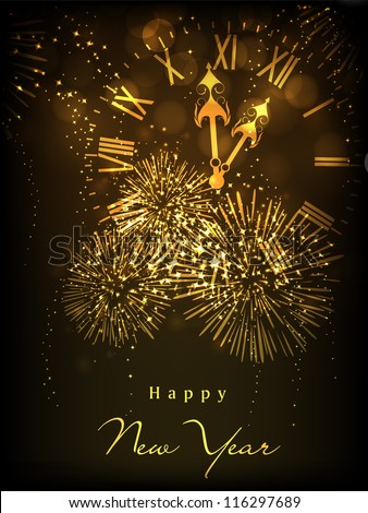 Happy New Year celebration background. EPS 10. - stock vector