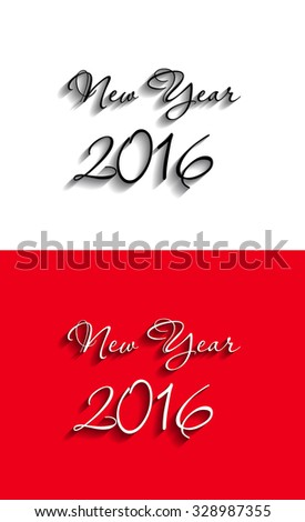 Happy New Year 2016 celebration with stylish text - stock vector