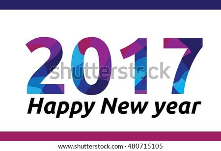 Happy new year color text