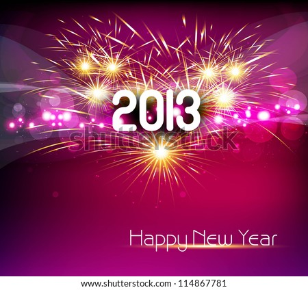 Happy new year 2013 colorful celebration vector design - stock vector