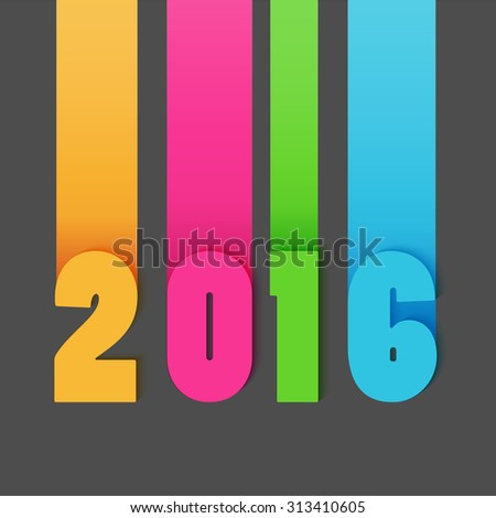 Happy new 2016 year. Colorful modern design.
