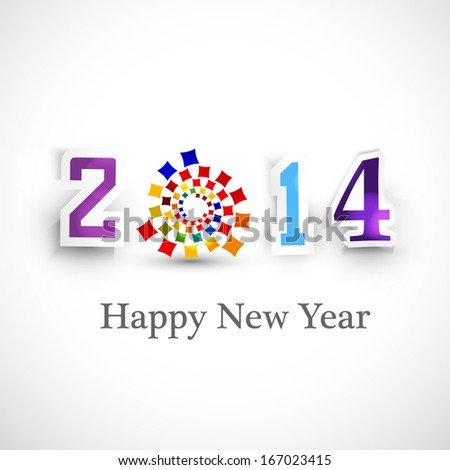 Happy new year creative 2014 celebration background vector - stock vector