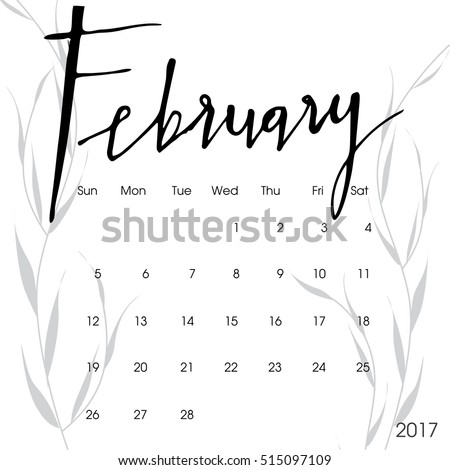 Happy new year 2017 creative greeting card design / Year 2017 vector design element / typescript 2017 blue greeting card made in style. Calendar for 2017. calendar illustration. february