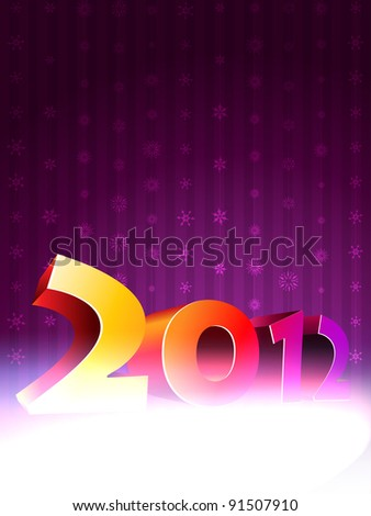 happy new year 3d style background