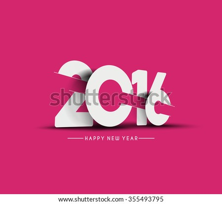 Happy New Year 2016 Decorated Design