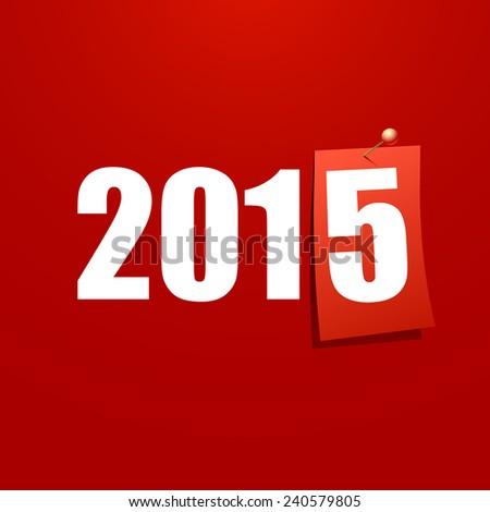 Happy New Year 2015 design card vector - stock vector