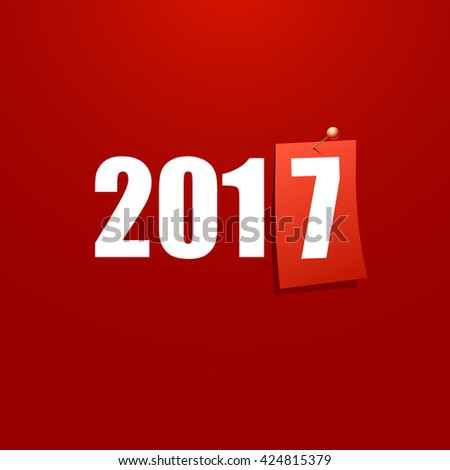 Happy New Year 2017 design card vector - stock vector