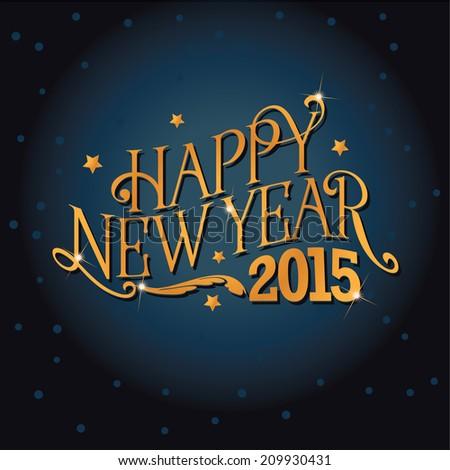 Happy New Year 2015 design  EPS 10 vector - stock vector