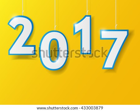 Happy new year 2017 design. Vector illustration. - stock vector