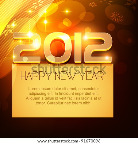 happy new year design with space for your text