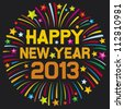 happy new year 2013 firework - stock vector