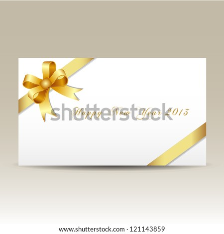 Happy new year 2013 gift card - stock vector