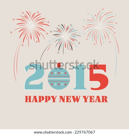 Happy new year 2015 greeting card stock vector 229767067 shutterstock happy new year 2015 greeting card m4hsunfo