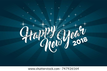Happy new year greeting card stock vector 747926164 shutterstock happy new year greeting card m4hsunfo