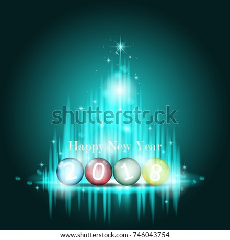 Happy new year 2018 greeting card stock vector 2018 746043754 happy new year 2018 greeting card abstract glowing light with 2018 happy new year text m4hsunfo