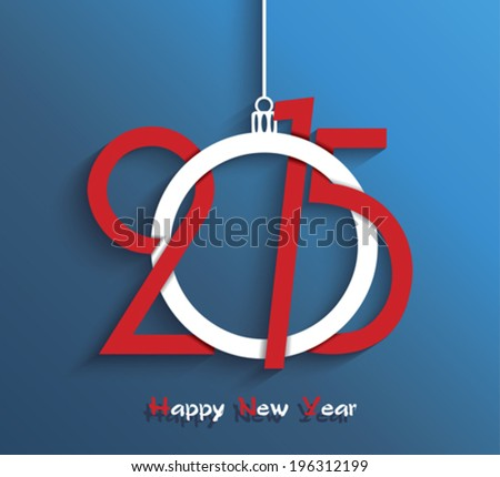 Happy new year 2015 greeting card design - stock vector