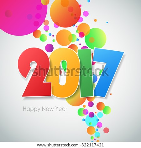 Happy new year 2017  greeting card. Vector illustration eps10