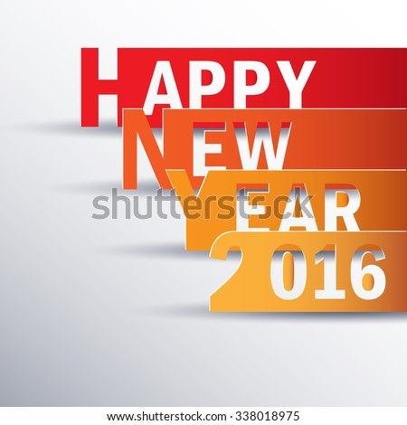 Happy new 2016 year. Greetings card. Colorful design. Vector illustration - stock vector