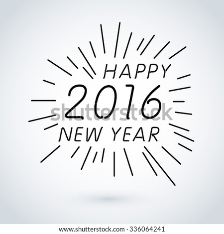 HAPPY NEW YEAR hand lettering, vector (eps8) art - stock vector