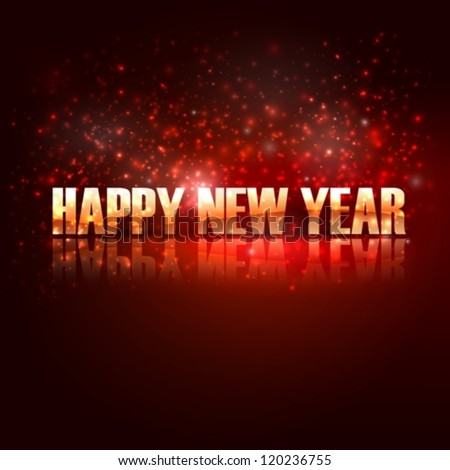 happy new year. holiday background with golden text - stock vector