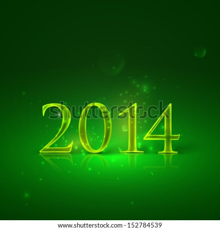 happy new year 2014. holiday background with golden text  - stock vector