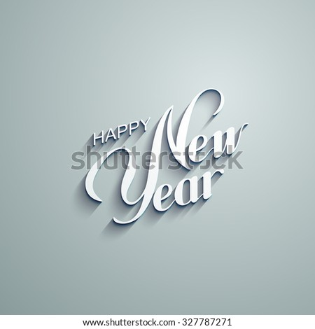 Happy New Year. Holiday Vector Illustration With Lettering Composition - stock vector
