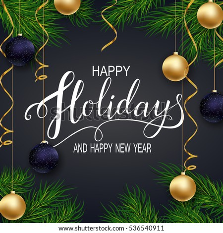 Happy new year 2017holidays greeting card stock vector hd royalty happy new year 2017s greeting card for winter happy holidays fir tree m4hsunfo