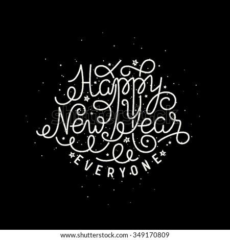 Happy New Year illustration - stock vector