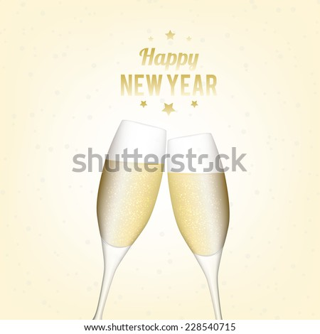 Happy New Year illustration/background - stock vector