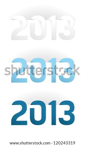 Happy New Year 2013, illustration on white - stock vector