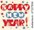 Happy New Year lettering design - stock vector