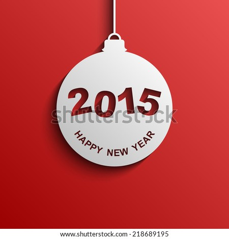 Happy new year 2015 modern vector background, Text design, Vector illustration Eps 10