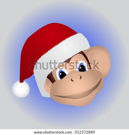 Happy new year monkey. Two thousand sixteen. - stock vector