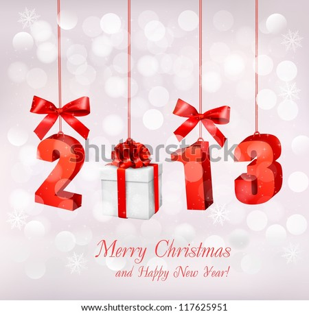 Happy new year 2013  New year design template  Vector illustration - stock vector