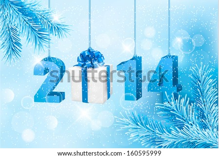 Happy new year 2014! New year design template. Vector illustration.  - stock vector