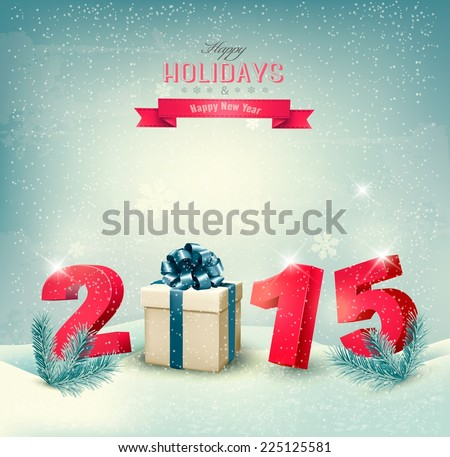 Happy new year 2015! New year design template Vector illustration  - stock vector