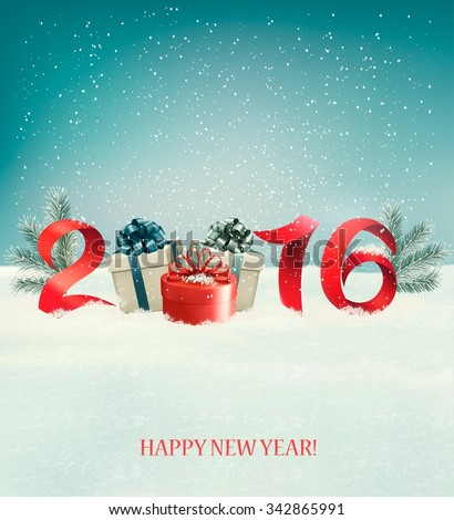 Happy new year 2016! New year design template Vector illustration  - stock vector