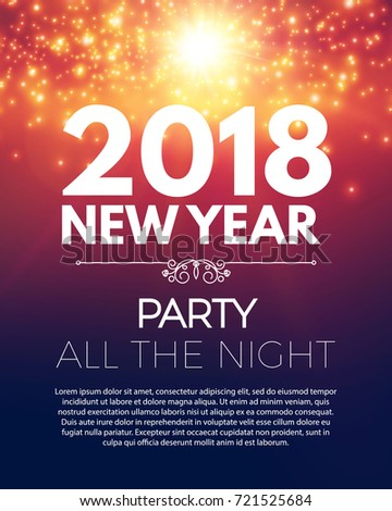 Happy New  Year Party Poster Stock Vector