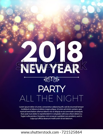 Happy New  Year Party Poster Stock Vector   Shutterstock